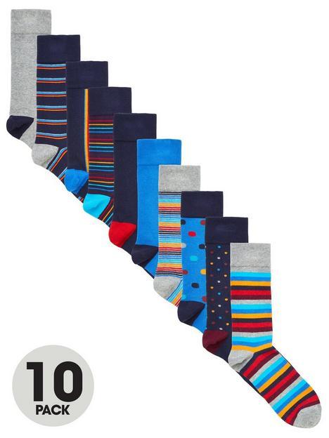 very-man-fresher-for-longer-10-pack-pattern-socks-multi-bright