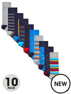 very-man-fresher-for-longer-10-pack-pattern-socks-multi-bright