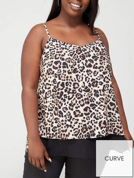 v-by-very-curve-double-layer-cami--nbspanimal-black