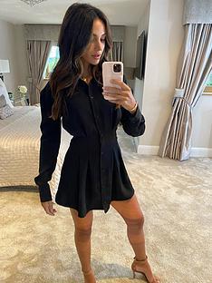 michelle-keegan-pleat-front-shirt-dress