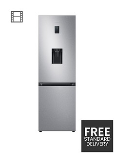 samsung-rb34t652esaeu-silver-frost-free-fridge-freezernbspwith-spacemaxtrade-and-non-plumbed-water-dispenser--nbspsilver