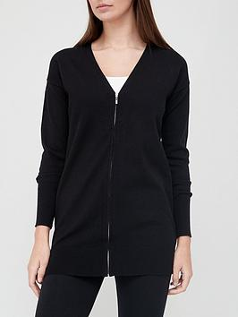 v-by-very-zipped-longline-knitted-cardigan-black