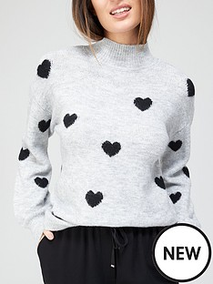 v-by-very-valuenbspheart-detail-knitted-jumper-grey