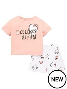 hello-kitty-girlsnbsp2-piece-t-shirt-and-jersey-short-set-multi