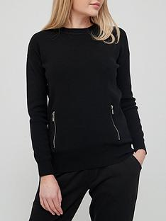 v-by-very-seam-zip-detail-knitted-jumper-co-ord-black