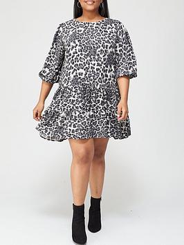 ax-paris-curve-animal-smock-dress-grey