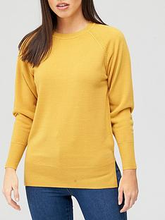 v-by-very-super-soft-deep-cuff-raglan-knitted-jumper-mustard