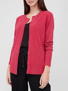 v-by-very-super-soft-deep-rib-hem-knitted-cardigan-raspberry