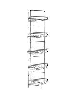 Product photograph showing Premier Housewares 5-tier Corner Bathroom Storage Rack