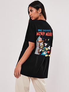 missguided-minnie-and-mickey-vintage-poster-tee-blacknbsp