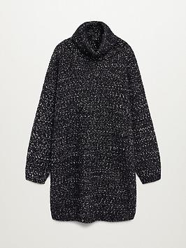 mango-roll-neck-knitted-pepper-dress-black