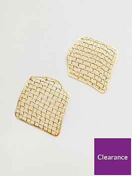 mango-crosshatch-earrings-gold