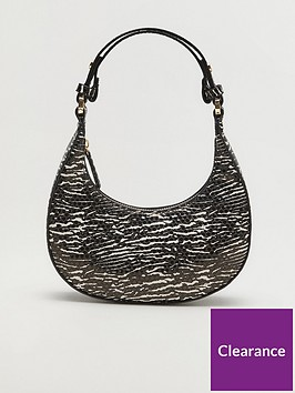 mango-zebra-mini-shoulder-bag-black