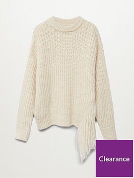 mango-tassel-edge-jumper-cream