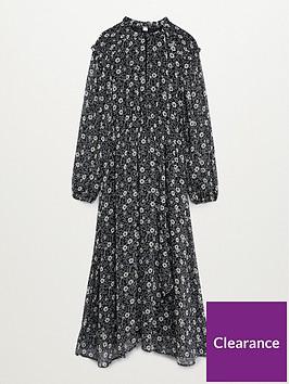mango-floral-high-neck-midi-dress-black