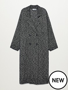 mango-herringbone-printed-coat-black
