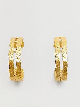mango-double-hoop-earrings-gold