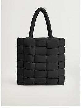 mango-nylon-weaved-tote-bag