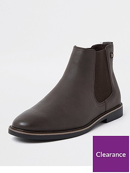 river-island-gusset-chelsea-boot-brown