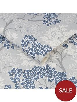 fresco-lykke-tree-navy-wallpaper