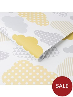 superfresco-easy-clouds-yellow-grey-wallpaper