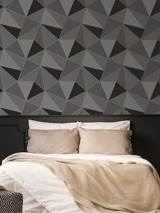 fresco-apex-geo-charcoal-wallpaper