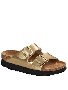 birkenstock-papillio-arizona-metallic-low-wedge-sandal-gold