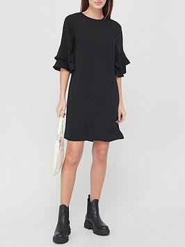v-by-very-frill-sleeve-tunic-dress-black
