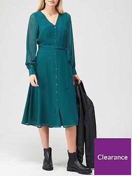 v-by-very-v-neck-button-through-midi-dress-teal