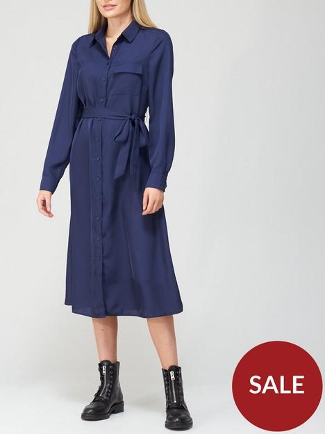 v-by-very-cupro-midi-shirt-dress-navy