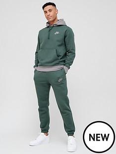 nike-contrast-hoodcuffs-fleece-tracksuit-green