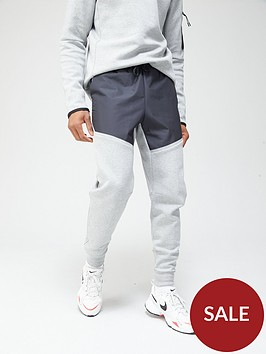 nike-tech-fleecenylon-mix-pants-dark-grey