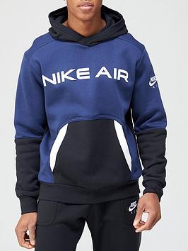 nike-air-contrast-block-pullover-hoodie-navy