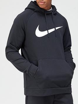 nike-training-dry-fleece-overhead-hoodie-black