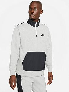 nike-graphic-back-half-zip-sweat-top-grey