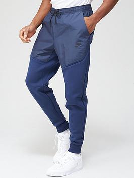 nike-tech-fleecenylon-mix-pants-navy