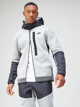 nike-tech-fleecenylon-mix-full-zip-hoodie-dark-grey
