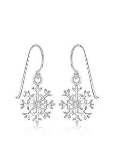the-love-silver-collection-sterling-silver-cubic-zirconia-snowflake-drop-earrings