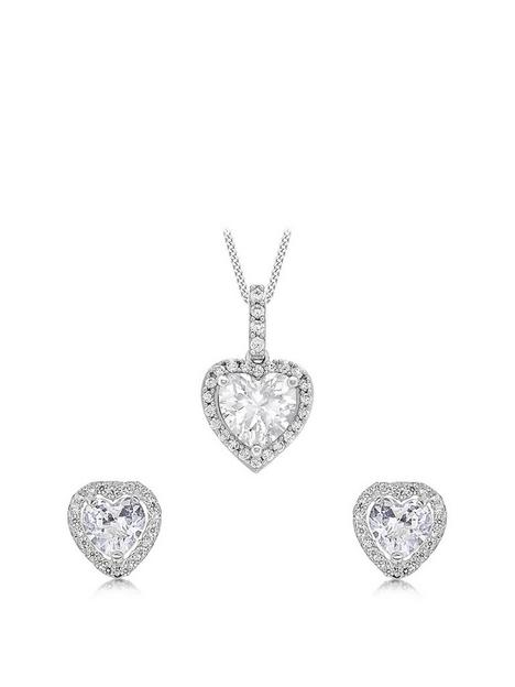 love-gold-9ct-white-gold-cubic-zirconia-heart-jewellery-set