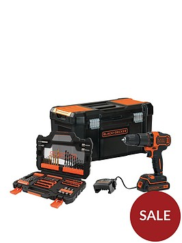 black-decker-blackdecker-18v-2-gear-hammer-drill-with-19-toolbox-and-104-accessory-set