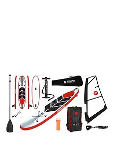 pure-windsurf-inflatable-stand-up-paddle-board-105-feet-complete-set-with-pump-patch-tool-foot-lead-adjustable-paddle-and-waterproof-2l-bag