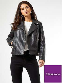 dorothy-perkins-faux-leather-pu-biker-jacket--nbspblacknbsp