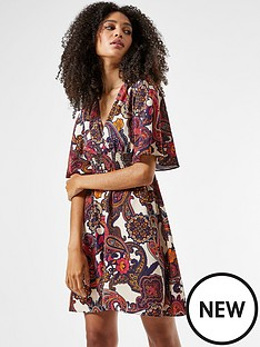 dorothy-perkins-shirrednbspwaist-paisley-printnbspmini-dress-multinbsp