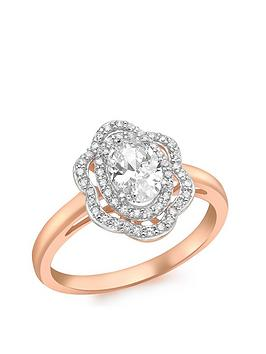 love-gold-9ct-rose-gold-cubic-zirconia-cluster-flower-ring