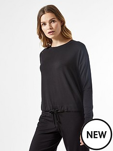 dorothy-perkins-tie-waist-top-black