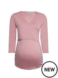 dorothy-perkins-maternity-34-sleeve-ballet-wrap-top-blushnbsp