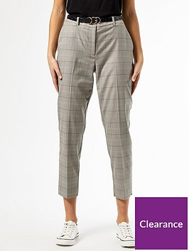 dorothy-perkins-check-ankle-grazer-trousers-grey