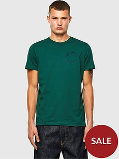 diesel-t-diego-circle-logo-t-shirt-green