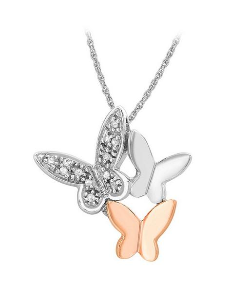 love-diamond-9ct-white-and-rose-gold-diamond-butterfly-necklace