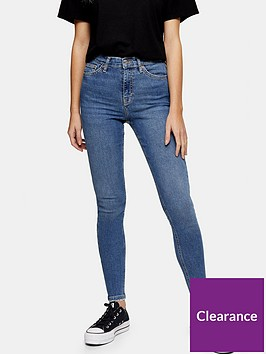 topshop-petitenbspjamie-frayed-hem-jeans-blue